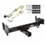 Front Mount Trailer Tow Hitch For 97-04 Ford F150 97-02 Expedition Lincoln Navigator F250 w/ J-Pin Anti-Rattle Lock