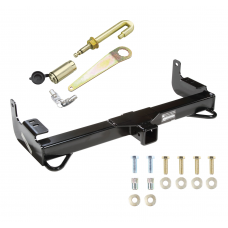 Front Mount Trailer Tow Hitch For 01-04 Toyota Tacoma w/ J-Pin Anti-Rattle Lock