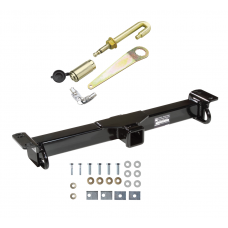 Front Mount Trailer Tow Hitch For 87-06 Jeep Wrangler YJ/TJ w/ J-Pin Anti-Rattle Lock