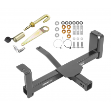 Front Mount Trailer Tow Hitch For 14-20 Chevy Silverado GMC Sierra 1500 Suburban Tahoe Yukon w/ J-Pin Anti-Rattle Lock