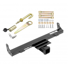 Front Mount Trailer Tow Hitch For 07-18 Jeep Wrangler w/ J-Pin Anti-Rattle Lock