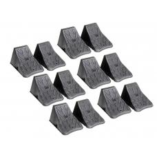 12 Pack Trailer Tire Chocks Rubber
