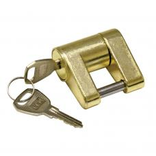 Reese Brass Adjustable Trailer Tow Hitch Coupler Tongue Lock w/ 2 Flat Keys Fits Most Couplers