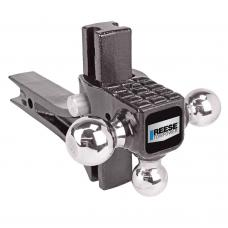 "Reese Rotating Triple Trailer Hitch Ball Mount w/ Step Fits 2"" Tow Receiver 1-7/8"" 2"" and 2-5/16"" Balls"