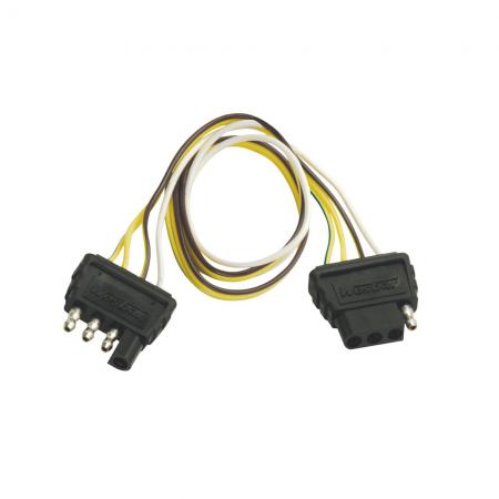 4-Flat Wiring Harness Tow Plug Kit Extension Harness, 2 ft Long