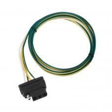 """4-Flat Wiring Harness Tow Plug Kit Car End Connector 72"""" Long, 72"""" Ground (Includes Wire Taps)"""