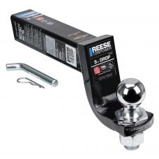 """Reese Interlock Class 5 Trailer Tow Starter Kit 5"""" Drop w/ 2-5/16 Inch Chrome Towing Ball 13,000 Lbs Fits 2-1/2"""" Hitch Opening"""
