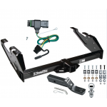 "Trailer Tow Hitch For 88-00 Chevy GMC C/K Pickup Complete Package w/ Wiring and 1-7/8"" Ball"