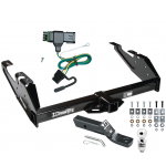 "Trailer Tow Hitch For 88-00 Chevy GMC C/K Pickup Complete Package w/ Wiring and 2"" Ball"