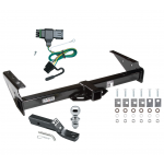 "Trailer Tow Hitch For 92-00 Chevy GMC Yukon Suburban Tahoe Escalade Complete Package w/ Wiring and 1-7/8"" Ball"