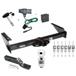 "Trailer Tow Hitch For 92-00 Chevy GMC Yukon Suburban Tahoe Escalade Deluxe Package Wiring 2"" Ball and Lock"
