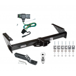 "Trailer Tow Hitch For 92-00 Chevy GMC Yukon Suburban Tahoe Escalade Complete Package w/ Wiring and 2"" Ball"