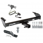 "Trailer Tow Hitch For 87-96 Ford F150 F250 F350 97 Heavy Duty Complete Package w/ Wiring and 1-7/8"" Ball"