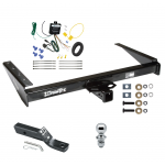 "Trailer Tow Hitch For 1993 Jeep Grand Cherokee ZJ Grand Wagoneer Complete Package w/ Wiring and 1-7/8"" Ball"