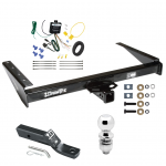"Trailer Tow Hitch For 1993 Jeep Grand Cherokee ZJ Grand Wagoneer Complete Package w/ Wiring and 2"" Ball"