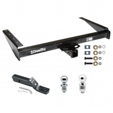 "Trailer Tow Hitch For 93-98 Jeep Grand Cherokee ZJ 93 Grand Wagoneer Receiver w/ 1-7/8"" and 2"" Ball"