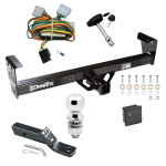 "Trailer Tow Hitch For 92-97 Isuzu Rodeo 94-97 Honda Passport Deluxe Package Wiring 2"" Ball and Lock"