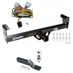 "Trailer Tow Hitch For 92-97 Isuzu Rodeo 94-97 Honda Passport Complete Package w/ Wiring and 2"" Ball"