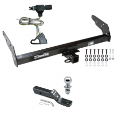 "Trailer Tow Hitch For 85-97 Chevy S10 GMC S15 Isuzu Hombre w/Step Bumper Complete Package w/ Wiring and 1-7/8"" Ball"