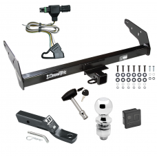 "Trailer Tow Hitch For 85-97 Chevy S10 GMC S15 Isuzu Hombre w/Step Bumper Deluxe Package Wiring 2"" Ball and Lock"