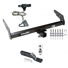 "Trailer Tow Hitch For 85-97 Chevy S10 GMC S15 Isuzu Hombre w/Step Bumper Complete Package w/ Wiring and 2"" Ball"
