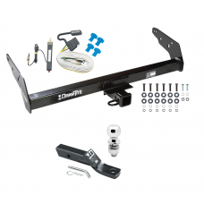 "Trailer Tow Hitch For 83-84 Chevy GMC S10 S15 w/Step Bumper Complete Package w/ Wiring and 2"" Ball"