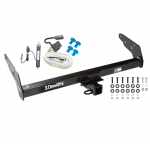 Trailer Tow Hitch For 83-84 Chevy GMC S10 S15 w/Step Bumper w/ Wiring Harness Kit