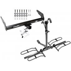 Trailer Tow Hitch For 83-97 Chevy S-10 GMC S15 Hombre Platform Style 2 Bike Rack w/ Anti Rattle Hitch Lock