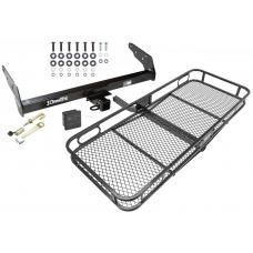 Trailer Tow Hitch For 83-97 Chevy S-10 GMC S15 Hombre Basket Cargo Carrier Platform Hitch Lock and Cover