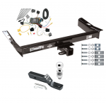 """Trailer Tow Hitch For 2003 Ford Windstar (Built After 11/2002) Complete Package w/ Wiring and 2"""" Ball"""