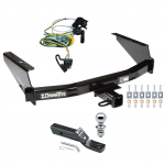 "Trailer Tow Hitch For 97-04 Ford F150 SuperCrew Flareside Complete Package w/ Wiring and 1-7/8"" Ball"