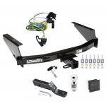 "Trailer Tow Hitch For 97-04 Ford F150 SuperCrew Flareside Deluxe Package Wiring 2"" Ball and Lock"
