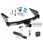 "Trailer Tow Hitch For 97-04 F150 Heritage Styleside 97-99 F250 Deluxe Package Wiring 2"" Ball and Lock"