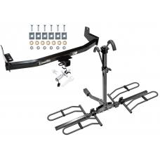 Trailer Tow Hitch For 97-02 Ford Expedition Lincoln Navigator Platform Style 2 Bike Rack w/ Anti Rattle Hitch Lock