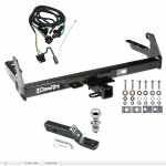 """Trailer Tow Hitch For 2004 Dodge Dakota Complete Package w/ Wiring and 1-7/8"""" Ball"""