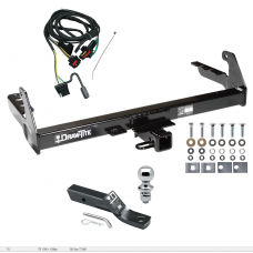 "Trailer Tow Hitch For 2004 Dodge Dakota Complete Package w/ Wiring and 1-7/8"" Ball"