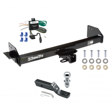 """Trailer Tow Hitch For 97-04 Mitsubishi Montero Sport Complete Package w/ Wiring and 1-7/8"""" Ball"""