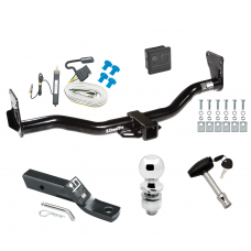 "Trailer Tow Hitch For 95-05 Chevy Blazer Trailblazer GMC Jimmy Bravada Deluxe Package Wiring 2"" Ball and Lock"