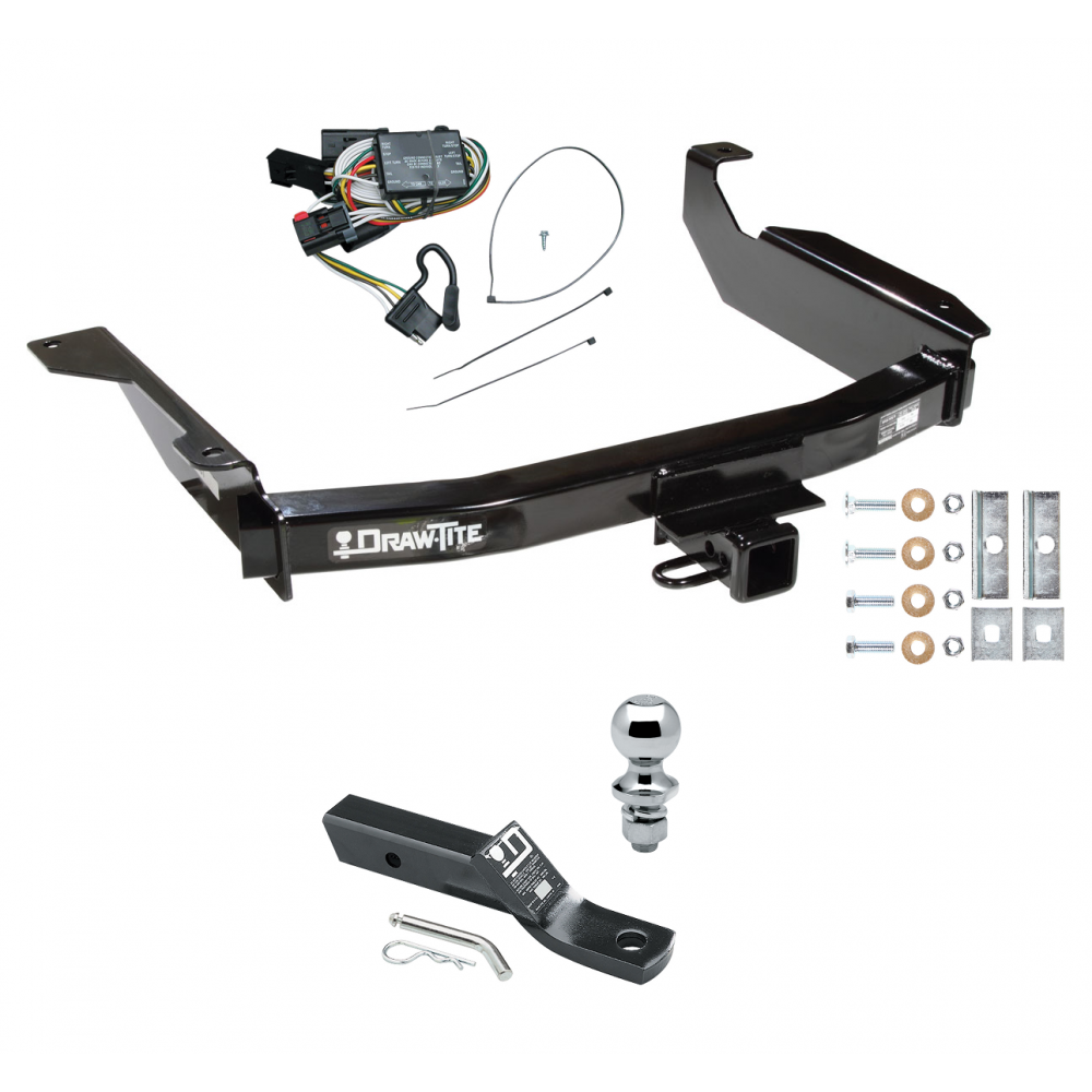 trailer tow hitch for 98 03 dodge durango complete package. Black Bedroom Furniture Sets. Home Design Ideas