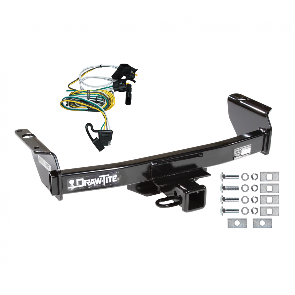 trailer tow hitch for 00 03 ford ranger w wiring harness kit. Black Bedroom Furniture Sets. Home Design Ideas