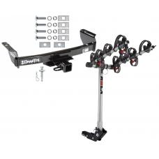 """Trailer Tow Hitch For 83-12 Ford Ranger Mazda B Series 2"""" Towing Receiver w/ 4 Bike Carrier Rack"""