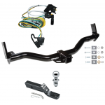 "Trailer Tow Hitch For 01-02 Ford Explorer Complete Package w/ Wiring and 1-7/8"" Ball"