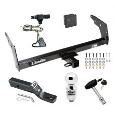 "Trailer Tow Hitch For 96-97 Chevy S10 GMC Sonoma w/Non-Towing Bumper Deluxe PKG  Wiring 2"" Ball and Lock"