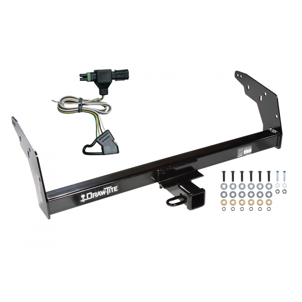 trailer tow hitch for 96-97 chevy s10 gmc sonoma w/non-towing bumper w/  wiring