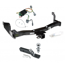 "Trailer Tow Hitch For 1998 Mercury Villager Nissan Quest Complete Package w/ Wiring and 1-7/8"" Ball"