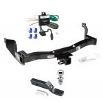 """Trailer Tow Hitch For 93-97 Mercury Villager Nissan Quest Complete Package w/ Wiring and 1-7/8"""" Ball"""
