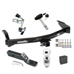 "Trailer Tow Hitch For 99-00 Dodge Van Ram Deluxe Package Wiring 2"" Ball and Lock"