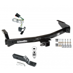 "Trailer Tow Hitch For 99-00 Dodge Van Ram Complete Package w/ Wiring and 2"" Ball"