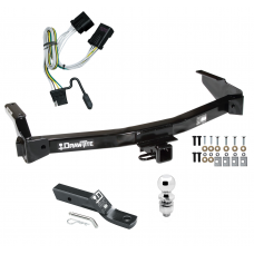 "Trailer Tow Hitch For 01-03 Dodge Van Ram Complete Package w/ Wiring and 2"" Ball"