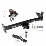 "Trailer Tow Hitch For 98-01 Honda Passport Isuzu Rodeo w/Door Spare Package w/ Wiring and 1-7/8"" Ball"
